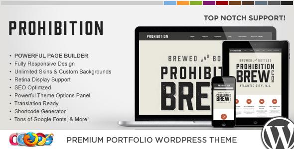 قالب WP Prohibition - قالب وردپرس خلاقانه