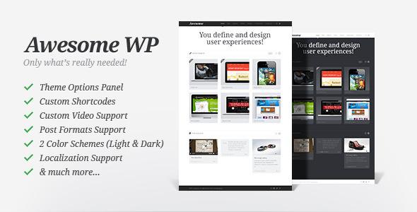 قالب Awesome WP - قالب نمونه کار
