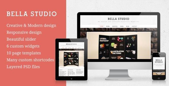 قالب Bella Studio - قالب وردپرس نمونه کار خلاقانه