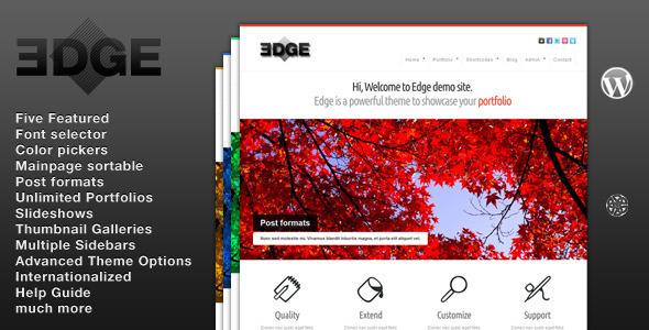 قالب Edge - قالب نمونه کار برای وردپرس
