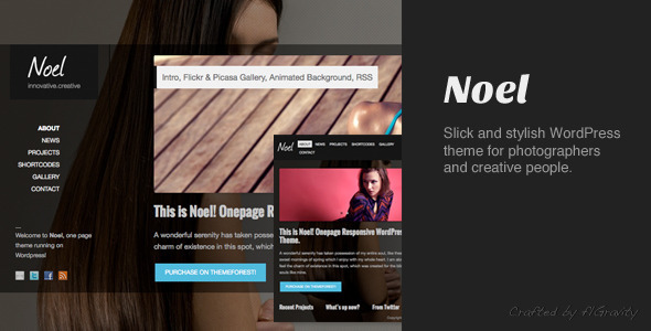 Noel - قالب تک صفحه ای ریسپانسیو وردپرس