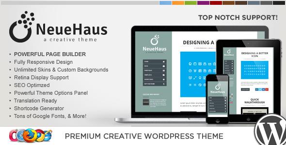قالب WP Neuehaus - قالب وردپرس خلاقانه