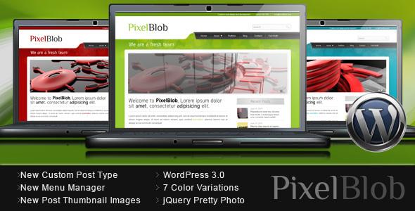 قالب PixelBlob - قالب وردپرس نمونه کار