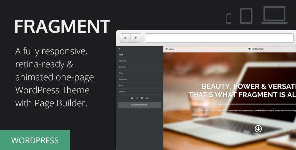 قالب Fragment - قالب وردپرس تک صفحه ای