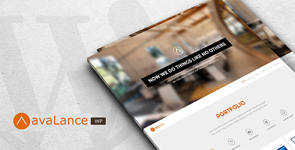 قالب Avalance - قالب وردپرس سایت نمونه کار