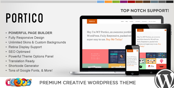 قالب WP Portico - قالب وردپرس خلاقانه