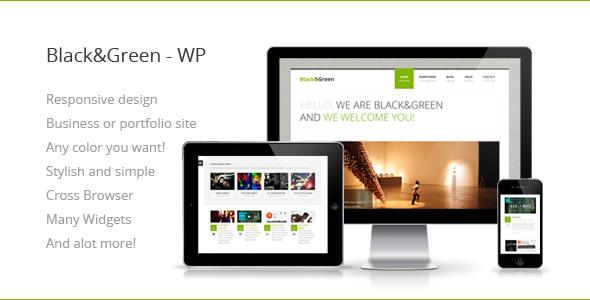 قالب سیاه و سبز | Black&Green - قالب وردپرس ریسپانسیو