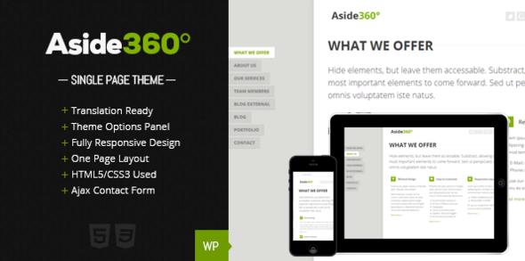 قالب Aside 360° - قالب وردپرس نمونه کار
