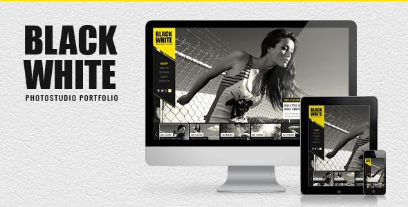 قالب Black&White - قالب وردپرس نمونه کار عکاسی