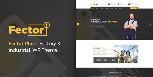 قالب Fector Plus - قالب وردپرس کارخانه و صنعت