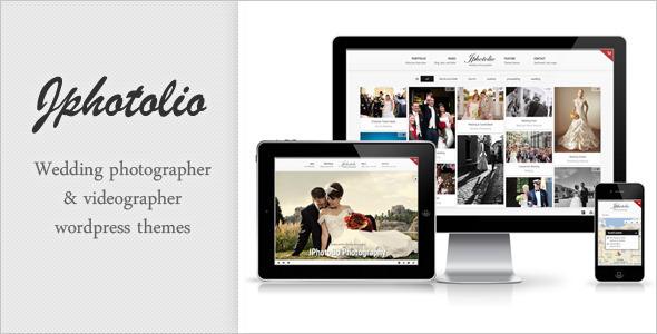 JPhotolio - قالب وردپرس عکاسی عروسی