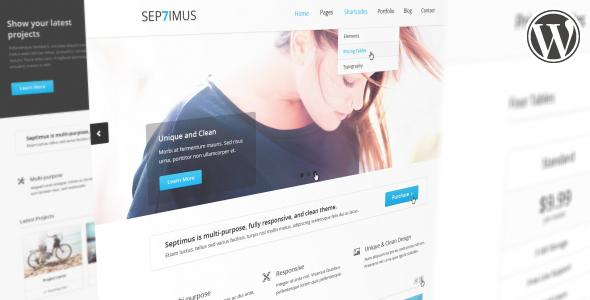 قالب Septimus - قالب نمونه کار وردپرس