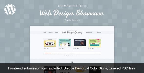 قالب Web Design Showcase - قالب وردپرس