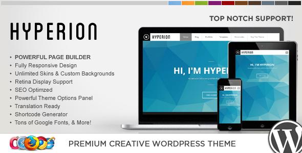 قالب WP Hyperion - قالب وردپرس خلاقانه