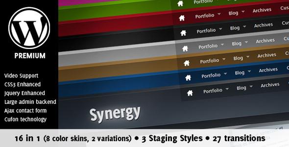 قالب Synergy - وبلاگ و نمونه کار ویژه