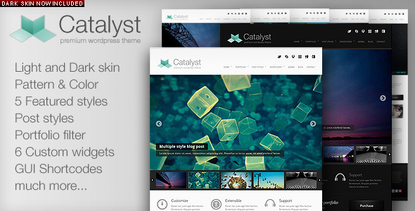 قالب کاتالیست | Catalyst - قالب نمونه کار برای وردپرس
