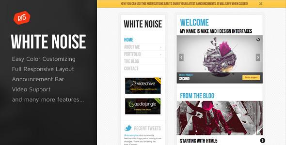 قالب White Noise - قالب وردپرس ریسپانسیو