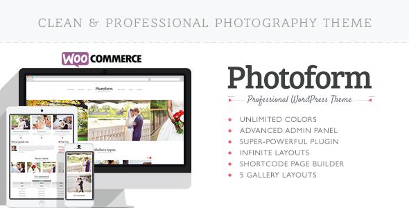 قالب Photoform - قالب وردپرس عکاسی