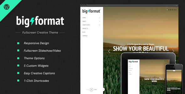 BigFormat - قالب وردپرس تمام صفحه