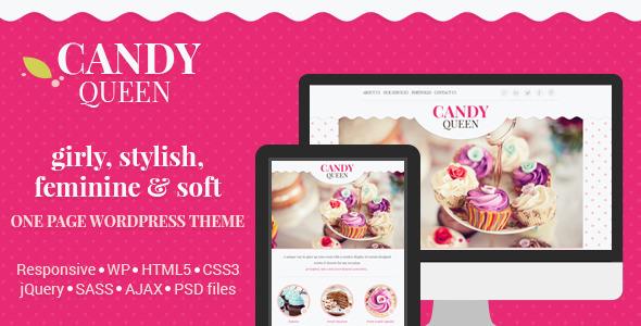 قالب Candy Queen - قالب وردپرس چند منظوره تک صفحه ای چند منظوره