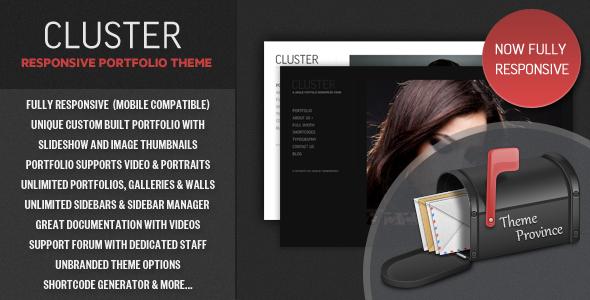 Cluster - قالب وردپرس نمونه کار