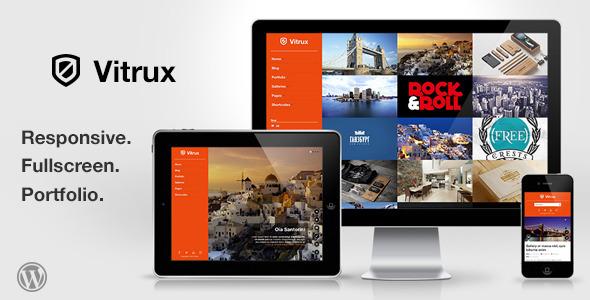 قالب Vitrux - قالب نمونه کار تمام صفحه وردپرس