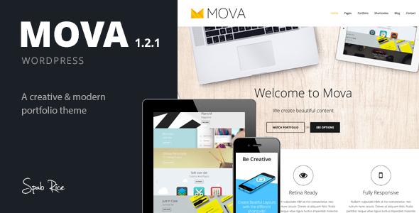 قالب Mova - قالب وردپرس برای ذهن های خلاق