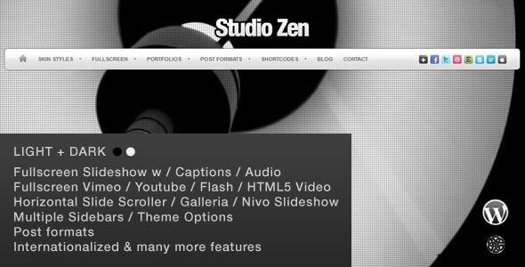 Studio Zen - قالب وردپرس نمونه کار تمام صفحه