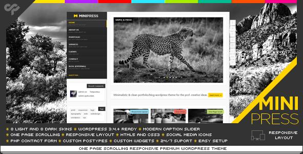 قالب MiniPress - قالب وردپرس تک صفحه ای