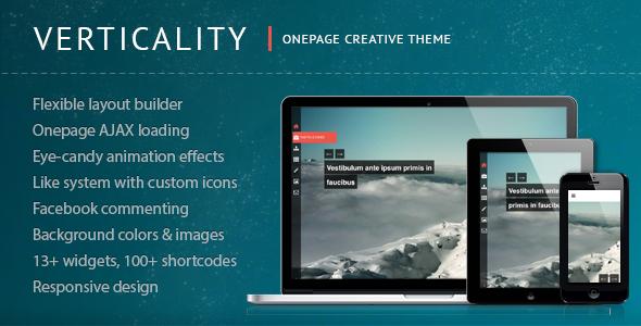 قالب Verticality - قالب تک صفحه ای عکاسی