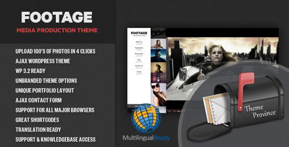 قالب Footage - قالب وردپرس تولید عکس و فیلم