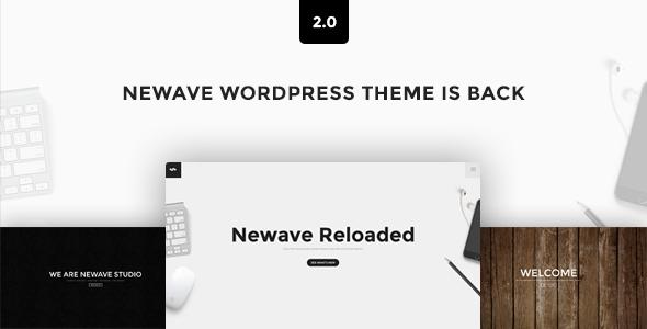 قالب Newave - قالب وردپرس تک صفحه ای پارالاکس