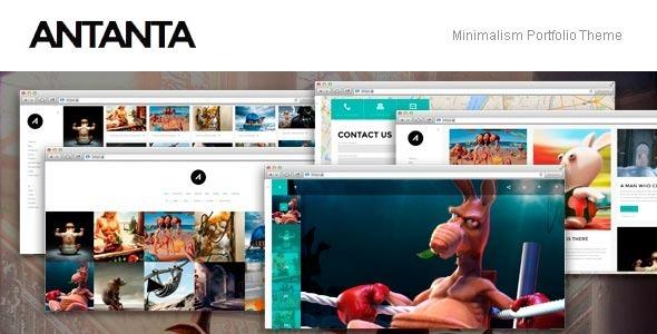 قالب Antanta - قالب سایت نمونه کار ساده