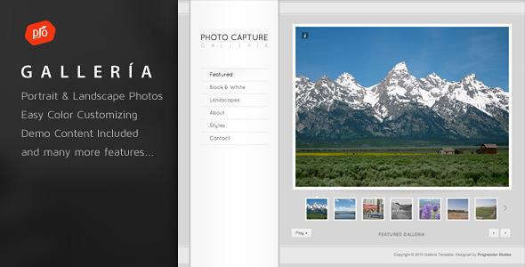 قالب Galleria - قالب وردپرس نمونه کارهای عکاسی