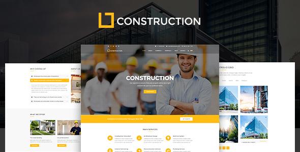قالب Construction - قالب وردپرس شرکت ساختمانی