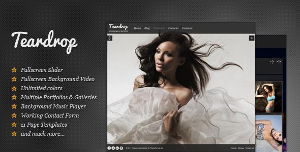 Teardrop - قالب تمام صفحه عکاسی