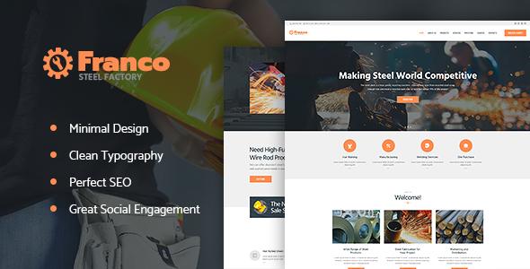 قالب Franco - قالب سایت کارخانه فولاد