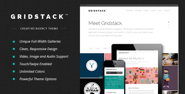 GridStack - قالب وردپرس آژانس