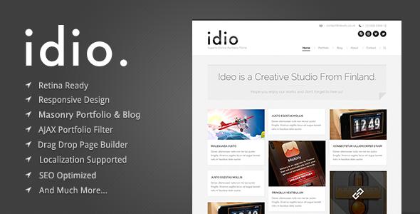 idio - قالب وردپرس نمونه کار