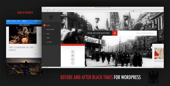 قالب Before And After Black Times - قالب وردپرس