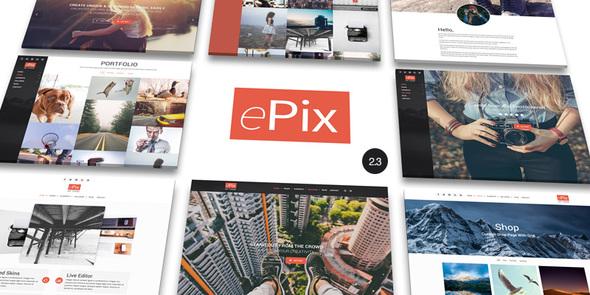 قالب ePix - قالب وردپرس عکاسی تمام صفحه