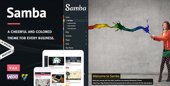 قالب Samba - قالب وردپرس رنگی