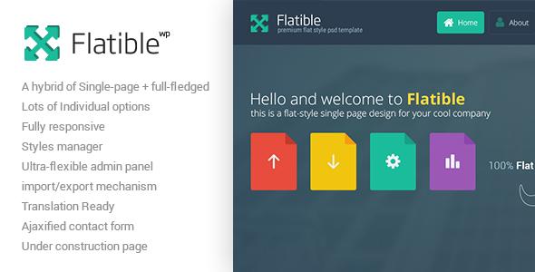 قالب Flatible - قالب وردپرس تک صفحه ای
