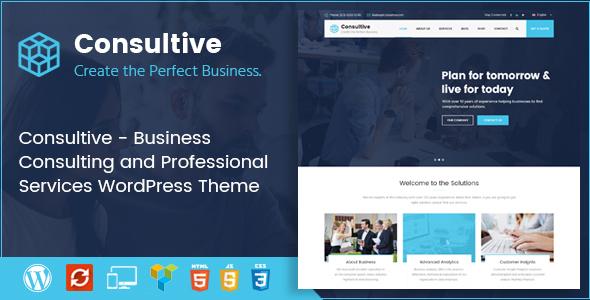 قالب Consultive - قالب وردپرس مشاوره کسب و کار و خدمات حرفه ای