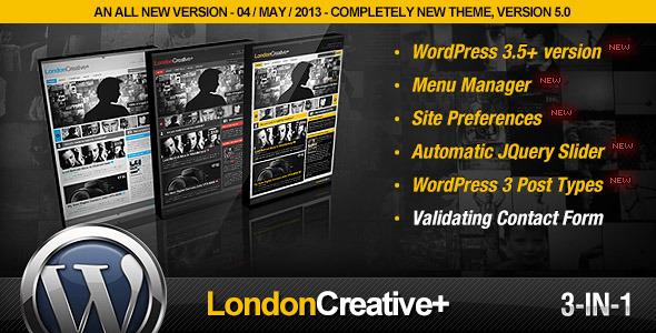 قالب London Creative - قالب وردپرس نمونه کار و بلاگ