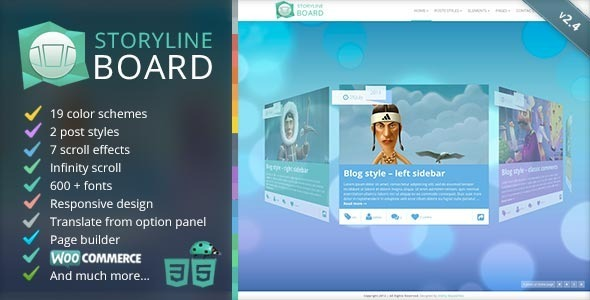 قالب Storyline Board - قالب وردپرس