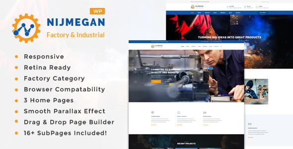 قالب Nijmegan - قالب وردپرس کارخانه و صنعت