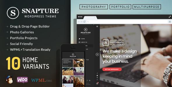 قالب Snapture - قالب وردپرس عکاسی و شرکتی