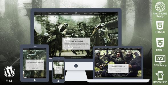 قالب سامورایی | Samurai - قالب وردپرس ریسپانسیو