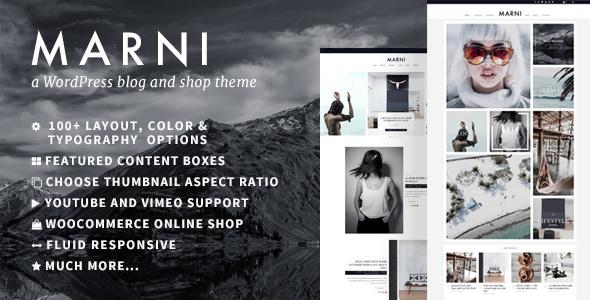 قالب Marni - یک قالب وبلاگ و فروشگاه وردپرس